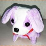ตุ๊กตาหมาของเล่นเด็ก เดินได้ เห่าได้ กระดิกหาง (สีม่วง)