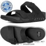 US11 : Fitflop Men's Gogh Moc Pool Slide Adjustable Black ของแท้ นำเข้าจาก USA และ UK
