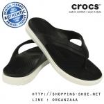 M7/W9 (26 cm.) : Crocs CitiLane Flip - Black / White ของแท้ Outlet ไทยและอเมริกา