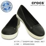 W9 (26 cm.) : Crocs Citilane Flat - Black / White ของแท้ Outlet ไทยและอเมริกา