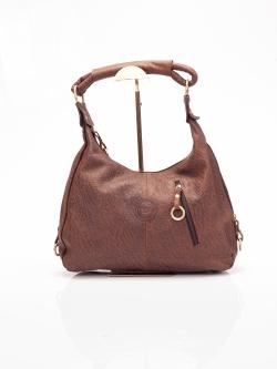 LDB287ELE กระเป๋าสะพาย หนังแท้ พิมพ์ลายช้าง Front Zip Hobo Leather Handbag สำเนา