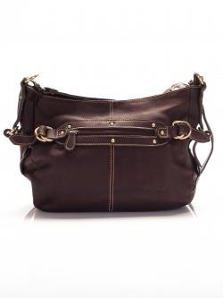 LDB3046 Judith กระเป๋าหนังแท้ ทรงนิ่ม สายสะพายถอดเปลี่ยนได้2แบบ สีน้ำตาล