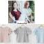 เสื้อผ้าแฟชั่นสวยๆ เสื้อทำงาน ทรงแขนกลีบบัว สีนู้ด ผ้าฮานาโกะ แบบสวยหวานๆสไตล์เกาหลี thumbnail 5