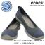W7 (24 cm.) : Crocs Busy Day Stretch Flat - Bijou Blue ของแท้ Outlet ไทยและอเมริกา thumbnail 1