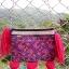 กระเป๋าปักมือ โทนสีม่วงชมพู เก่าลายสวยงามละอียด thumbnail 1