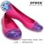 W7 (24 cm.) : Crocs Women's Cap Toe Flat - Candy Pink / Ultraviolet ของแท้ Outlet ไทยและอเมริกา thumbnail 1