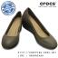 W6 (23.5 cm.) : Crocs Women's Marin ColorLite Wedge - Pewter / Black ของแท้ Outlet ไทยและอเมริกา thumbnail 1