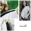 เสื้อผ้าแฟชั่นสวยๆ เสื้อทำงาน สีขาว แบบผ้าป้ายสุดฮิต กุ้นขอบสีสวยๆตัดกัน ผูกโบว์เอว สวยเรียบหรู thumbnail 5