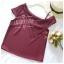 เสื้อแฟชั่นผ้าฮานาโกะ (สีส้มอิฐ) ปาดไหล่ข้างเดียว ตัดแต่งผ้าช่วงอกเก๋ๆ เพิ่มสายเดี่ยวเพื่อความมั่นใจให้ลุคสวยเปรี้ยว thumbnail 4