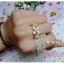 (หมดจ้า) แหวนแฟชั่นดอกไม้สีขาวประดับด้วยเพชร สวยหวานหวานสไตล์เกาหลี thumbnail 2