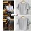 เสื้อแฟชั่น เสื้อทำงาน ผ้าฮานาโกะ สีเทา แต่งโบว์ที่แขน แบบสวยน่ารัก สไตล์เกาหลี สินค้าคุณภาพดี ราคาเบาๆ thumbnail 2