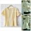 เสื้อแฟชั่นผ้าฮานาโกะ สีขาว จีบเอว เข้ารูป ทรงสวย พับแขนเก๋ๆ แบบสวยเรียบหรู thumbnail 2