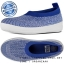 US5 : Fitflop Uberknit Slip On Ballet Flat Mazarine Blue / White ของแท้ นำเข้าจาก USA และ UK thumbnail 1