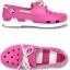 J5 (24 cm.) : Crocs Kids Beach Line Boat Shoe - Fuchsia / White ของแท้ Outlet ไทยและอเมริกา thumbnail 2