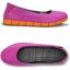W7 (24 cm.) : Crocs Women's Stretch Sole Flat - Vibrant Violet / Orange ของแท้ Outlet ไทยและอเมริกา thumbnail 2