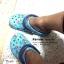 M4/W6 (23.5 cm.) : Crocs Classic Summer Fun Clog - Electric Blue ของแท้ Outlet ไทยและอเมริกา thumbnail 4