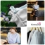 เสื้อแฟชั่น เสื้อทำงาน ผ้าฮานาโกะ สีดำ แต่งโบว์ที่แขน แบบสวยน่ารัก สไตล์เกาหลี สินค้าคุณภาพดี ราคาเบาๆ thumbnail 7