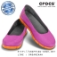 W7 (24 cm.) : Crocs Women's Stretch Sole Flat - Vibrant Violet / Orange ของแท้ Outlet ไทยและอเมริกา thumbnail 1