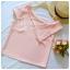 เสื้อแฟชั่นผ้าฮานาโกะ (สีส้มอิฐ) ปาดไหล่ข้างเดียว ตัดแต่งผ้าช่วงอกเก๋ๆ เพิ่มสายเดี่ยวเพื่อความมั่นใจให้ลุคสวยเปรี้ยว thumbnail 5