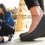 W6 (23.5 cm.) : Crocs Women's Marin ColorLite Wedge - Pewter / Black ของแท้ Outlet ไทยและอเมริกา thumbnail 3