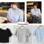เสื้อแฟชั่น เสื้อทำงาน ผ้าฮานาโกะ สีดำ แต่งโบว์ที่แขน แบบสวยน่ารัก สไตล์เกาหลี สินค้าคุณภาพดี ราคาเบาๆ thumbnail 6