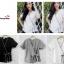 เสื้อผ้าแฟชั่นสวยๆ เสื้อทำงาน สีขาว แบบผ้าป้ายสุดฮิต กุ้นขอบสีสวยๆตัดกัน ผูกโบว์เอว สวยเรียบหรู thumbnail 4