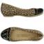 W6 (23 cm.) : Crocs Cap Toe Leopard Print Flat - Black / Gold ของแท้ Outlet ไทยและอเมริกา thumbnail 2