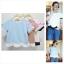 เสื้อแฟชั่น เสื้อทำงาน ผ้าฮานาโกะ สีฟ้า แบบสวยน่ารัก สีทูโทน เอวหยัก เนื้อผ้านิ่ม อยู่ทรง ไม่ยับง่าย ใส่สบาย สินค้าคุณภาพ ราคาไม่แพง thumbnail 1