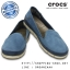 W6 (22.5 cm.) : Crocs Women's Stretch Sole Microsuede Skimmer - Navy / Cobblestone ของแท้ Outlet ไทยและอเมริกา thumbnail 1