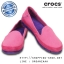 W7 (23.5 cm.) : Crocs Women's Stretch Sole Microsuede Skimmer - Candy Pink / Ultraviolet ของแท้ Outlet ไทยและอเมริกา thumbnail 1