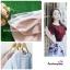เสื้อผ้าแฟชั่นสวยๆ เสื้อทำงาน ทรงแขนกลีบบัว สีนู้ด ผ้าฮานาโกะ แบบสวยหวานๆสไตล์เกาหลี thumbnail 6