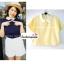 เสื้อแฟชั่น เสื้อทำงาน ผ้าฮานาโกะ สีเหลือง พาสเทล สดใส คอปกเก๋ๆ แบบยอดนิยม สินค้าคุณภาพ ราคาไม่แพง thumbnail 1