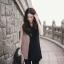 เสื้อผ้าฮานาโกะ แบบสวยคลาสสิค เสื้อทำงาน ตัวยาว คอวี แขนกุด สีทูโทน แบบสวยหรูๆ thumbnail 1