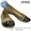 W6 (23 cm.) : Crocs Cap Toe Leopard Print Flat - Black / Gold ของแท้ Outlet ไทยและอเมริกา thumbnail 1
