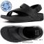 US8 : Fitflop Men's Surfer Leather Sandal Black ของแท้ นำเข้าจาก USA และ UK thumbnail 1