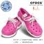 J5 (24 cm.) : Crocs Kids Beach Line Boat Shoe - Fuchsia / White ของแท้ Outlet ไทยและอเมริกา thumbnail 1