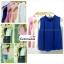 เสื้อแฟชั่น เสื้อทำงาน ผ้าฮานาโกะ แบบสวย สีน้ำเงิน คอจีน แขนกุด ใส่ได้หลายโอกาส เนื้อผ้า อยู่ทรง ไม่ยับง่าย ใส่สบาย สินค้าคุณภาพ ราคาไม่แพง thumbnail 1