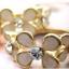 (หมดจ้า) แหวนแฟชั่นดอกไม้สีขาวประดับด้วยเพชร สวยหวานหวานสไตล์เกาหลี thumbnail 4