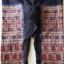 กางเกงผ้าปักมือ ลายโบราณทั้งผืน โทนสีน้ำตาลแก่ มีสายมัดเอว thumbnail 3