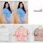 เสื้อครอป ผ้าฮานาโกะ สีนู้ด แต่งระบายแขน แบบสวยหวานสไตล์เกาหลี มีซิปหลังค่ะ เนื้อผ้าฮานาโกะคุณภาพดี thumbnail 3