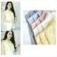 เสื้อแฟชั่นผ้าฮานาโกะ แขนกุด คอวี (สีขาว) จับจีบไหล่ ทรงสวยเรียบหรู สินค้าคุณภาพดี ใส่ได้ทุกโอกาส thumbnail 10
