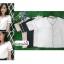 เสื้อผ้าแฟชั่นสวยๆ เสื้อทำงาน สีขาว ผ้าฮานาโกะ คอวี กุ้นขอบสีดำตัดกัน แบบสวย ดีไซน์เก๋ๆ สินค้าคุณภาพดี thumbnail 6