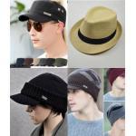 หมวกผู้ชายแฟชั่น หมวกแก็ป แก๊พ หมวกทหาร หมวกสาน หมวกไหมพรม หมวกผ้ากันหนาว หมวกคลุมผ้า