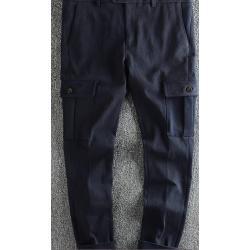 กางเกงสแล็ค ขาเล็ก สกินนี่ แฟชั่น แต่งกระเป๋าข้าง สีเขียว No. 30
