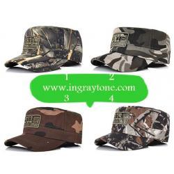 ใหม่!! หมวกทหาร หมวกแก๊ป สไตล์USA ผ้าฝ้าย ลายพรางทหาร ลายป่า (1 - 4)