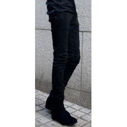 กางเกงยีนส์ แฟชั่น เดฟทรงฟิต ยืดฟิตตัว เอว No.28 ดำประกาย
