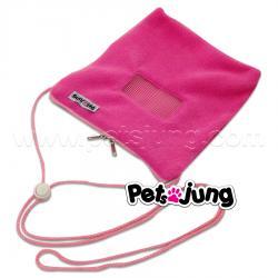 PJ-BON003-PI PetsJunG - Bonding Pouches ถุงเดินทาง ติดซิบ สีชมพู