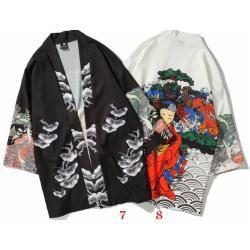 +3D3มิติ เสื้อคลุมญี่ปุ่น ทรงผีเสื้อ สกรีนลายสักหน้าหลัง สี ขาว ดำ คละแบบ No. S M L XL XXL