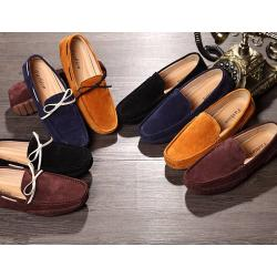 พรีออเดอร์รองเท้า loafer หลากสี รองเท้าคัทชู หนังกลับ แบบเรียบ เชือกผู้ขาว C3 No.38-44 เทา น้ำเงิน ดำ เหลือง น้ำตาล