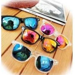 กรอบแว่นตากันแดดแฟชั่น ปรอท ทรงเล็ก (ฟ้าใส )